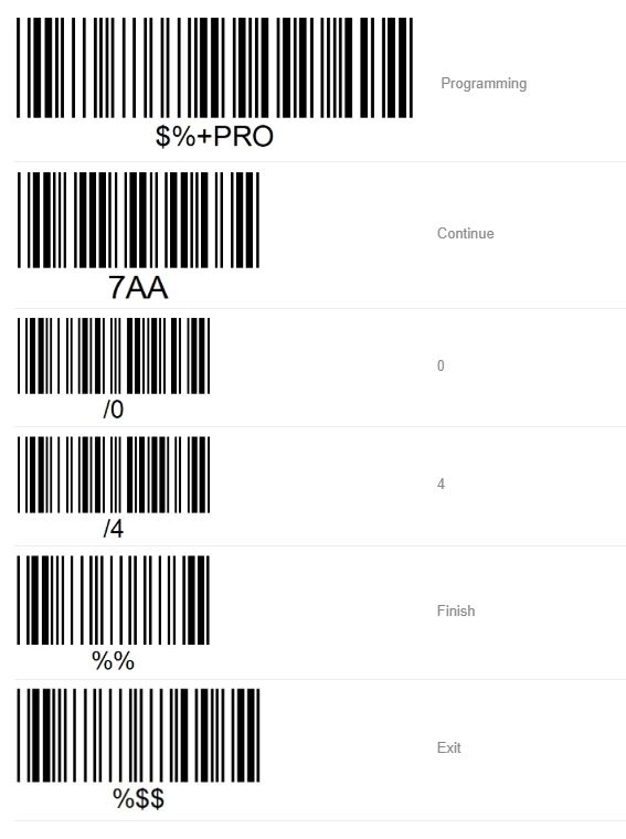 How to set Argox barcode scanner to continuous scanning mode